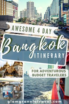 This is the essential 4 day Bangkok itinerary, taking you to all the can't-miss Bangkok highlights while giving you plenty of time to get lost! This 4 day Bangkok itinerary is aimed towards budget backpackers, but it's totally customizable to your budget Thailand Travel Guide, Bangkok Travel, Bangkok Thailand, Asia Travel, Bangkok Trip, Laos Travel, Visit Thailand, Bangkok Itinerary 4 Days, Beach Travel