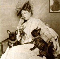 Frau Sacher with her French Bulldogs, 1896