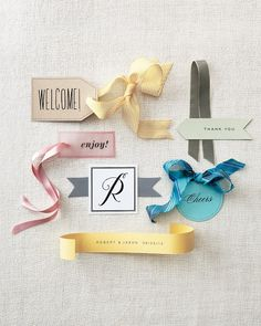 Six Clip Art Favor Tags - Martha Stewart Weddings Favors