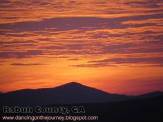 The morning sky was on fire! God's artistry is evident in Rabun County all the time!