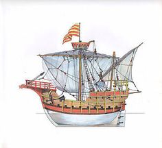 .Early Aragonese (Catalan) Carrack.