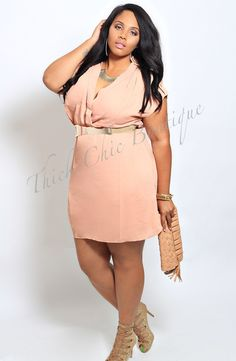 Wrap Style Woven Dress, $33.99 by Thick Chic Boutique