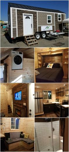 KJE Tiny Homes Came up with an Unique High End 264 Sq Ft Tiny House - KJE Tiny Homes in Fresno, California designed and built one of the most unique and high-end tiny houses that we've ever seen! This home is 264 square feet and 26 feet long and features finishes and materials that we didn't see coming like the stacked stone and shingles on the exterior.