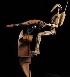 Star Wars S., Battle Droid action figure by Sideshow Star Wars Droids, Star Wars Toys, Star Wars Clone Wars, Star Wars Art, Mundo Dos Games, Star Wars Models, Battle Droid, Episode Vii, Star System