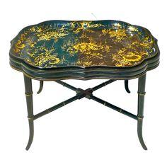 1stdibs.com | Regency style Papier Mache Tray Table