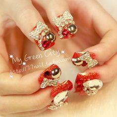 Aliexpress.com : Buy Glitter series of bride nail art square  medium long ceremonized finger false nail patch on Jessie's shop. $15.48