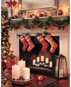 Christmas Decorations and candles. LOVE this! www.PartyLite.biz.NikkiHendrix