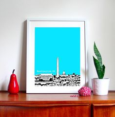 We love this Washington, DC print –what a great way to remember a summer trip!