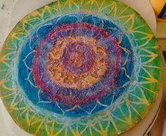Mandala en Acrilicos y Texturas