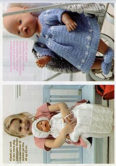 Albumarkiv Knitting Dolls Clothes, Doll Clothes Patterns, Doll Patterns, Clothing Patterns, Knitting Patterns, Baby Born Clothes, Bear Doll, Reborn Dolls, Kids And Parenting
