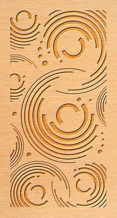 Curved Digital Screen Wall Ideas For 2019 Stencil Patterns, Wood Patterns, Stencil Designs, Cnc Plasma, Wood Panel Walls, Panel Wall Art, Wood Wall, Cnc Cutting Design, Laser Cutting