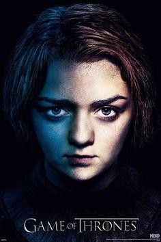 Póster Juego de Tronos. Arya Stark, cara