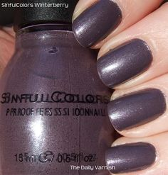 Sinful Colors - Winterberry (possible Chanel Paradoxal dupe)
