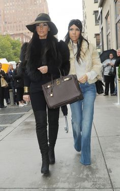 Glamorous. Both of them... That's Kardashian style for you