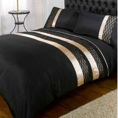 Buy Midnight Duvet Cover Set Black and Gold | Bedding | The Range