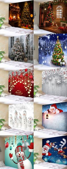 2020 Christmas Wall Tapestry Best Online For Sale Office Christmas, Cheap Christmas, Christmas Art, All Things Christmas, Christmas Holidays, Christmas Ideas, Wall Tapestries, Tapestry, Holiday Crafts