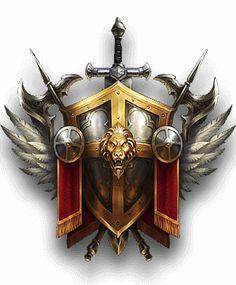 World Of Warcraft, Vikings, Shield Icon, Game Ui Design, Game Props, Knight Art, Game Icon, Fantasy Weapons, Game Logo