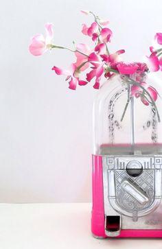 hot pink gum ball machine