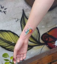 Pin for Later: Harry Potter Tattoos That Would Make J.K. Rowling Proud Watercolour Potter Glasses