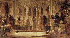 0-Recepcion del califa Abd al-Rahman III en Madinat al-Zahra- lienzo de Dionisio Baixeras finales XIX