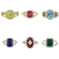 Top off your look with your favorite colored stone ring!