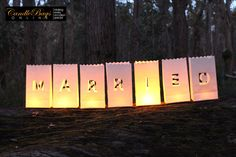 #married. Candle Bags Online stunning candle bags for sale. Great wedding decorations. Buy at www.candlebagsonline.com.au