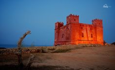 The Red Tower at Melliha, Malta.