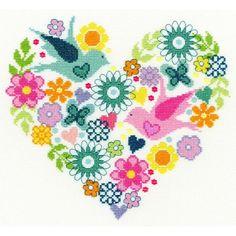 海外輸入のクロスステッチキットです。作品名:Heart Bouquetメーカー:Bothy Threadsキット内容:14カウント布、刺繍糸、刺繍針、図案完成...|ハンドメイド、手作り、手仕事品の通販・販売・購入ならCreema。