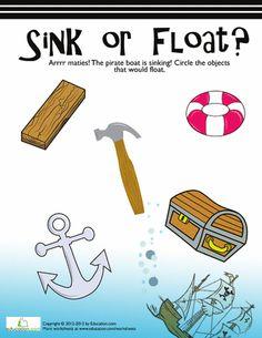 Worksheets: Sink or Float? #2