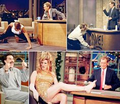David Letterman's tenure as host of the Late Show ends on May 20 after 22 years. The longest-serving late-night host began his reign in 1982 when NBC's Late Night With David Letterman debuted, and moved to CBS when Jay Leno was named host of The Tonight Show. Now, as Letterman takes his final bow, look back on some of his most memorable guests from the past several decades.