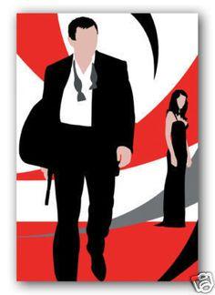 Funky Retro James Bond Canvas Print
