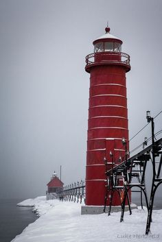Photo by Luke Hertzfeld on flickr Snowy Grand Haven Pier | by Luke Hertzfeld