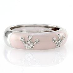 Hidalgo-Light-Pink-Enamel-Diamond-Crown-Stackable-Band-18K-White-Gold
