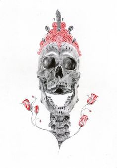 Drawing made with red and black ballpoint pens by Paul Alexander Thornton    http://www.facebook.com/PaulAlexThornton