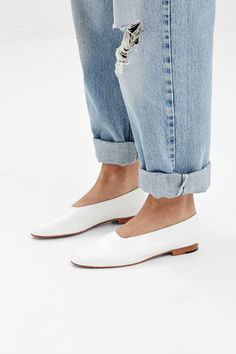 The sleekest of slip ons. The Martiniano glove shoe literally goes with anything and everything. We especially love the white pair with faded blue denim.