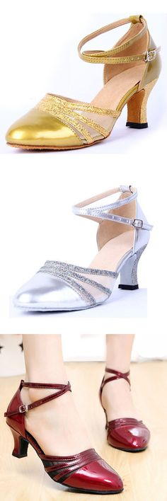 Sequins Mary Jane Mid Heel Strap Buckle Pumps http://www.ebrandshipping.com/