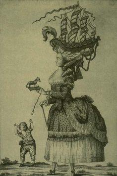 La coiffure à la Belle Poule 1778