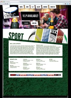 The Sport page for Club147.