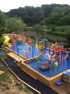 residential waterpark, water park waterpark residential backyard, residential backyard waterpark     , Yards Design