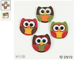Game- everyone makes an owl out of craft foam/felt for future nursery wall art
