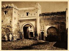 1924 Old City Gate  - Original Photogravure, 16 x 22 cms