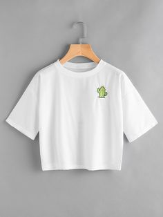 Shop Cactus Embroidered Slogan Print Back Tee online. SheIn offers Cactus Embroidered Slogan Print Back Tee & more to fit your fashionable needs.