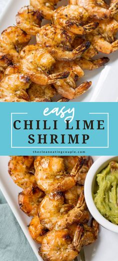 This Chili Lime Shrimp is an easy paleo, Whole30 and gluten free dinner that's made in only 20 minutes! A delicious, healthy meal thats super versatile. Use them in tacos, wraps, salads or lettuce wraps! #paleo #whole30 #glutenfree #grilling Clean Eating Guide, Easy Clean Eating Recipes, Easy Whole 30 Recipes, Healthy Grilling Recipes, Healthy Gluten Free Recipes, Clean Eating Diet, Healthy Appetizers, Healthy Meal Prep, Appetizer Recipes