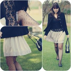 Lilac, lace and poá (by Melina Souza) http://lookbook.nu/look/3648749-lilac-lace-and-po