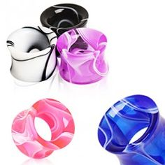 UV Acrylic Marble Tunnel Plug by Every Body Jewelry