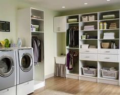 Perfect Pictures of Laundry Rooms With Unique Design Modern Shelves