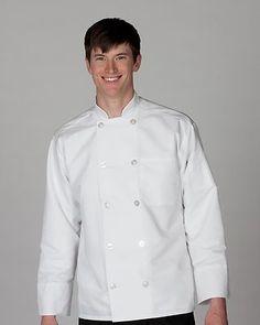 Ed Garments Adult Classic 10 Button Lightweight Poplin Chef Coat. 3330