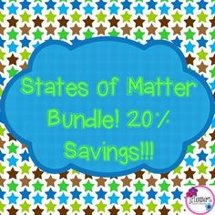 **This product is 50% off for the 1st 48 hours!!This is a bundle of my activities that relate to the States of Matter. **If you purchased each activity individually it would cost $6.20** ** If you purchase this bundle each time a new product is added you will receive it for free!In this bundle you are receiving the following activities:States of Matter/Phase Changes Task Cards with QR Codes!Included in your download you will receive the following: --Teacher Instructions --28 Task cards with…