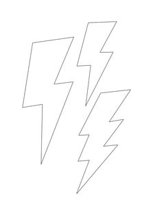 Lightning bolt template small