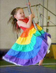 PATTERN Rainbow Twirl Dress - PDF Pattern and Tutorial (Instant Download). $10.00, via Etsy.